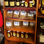 Gift shop sourgum honey and peanuts display 8.2011