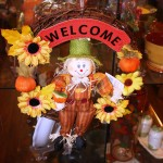 Gift shop welcome scarecrow 8.2011