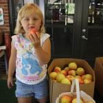 Little Girl Eating Apple 8.2011
