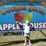 Little Girl in front of CF sign 8.2011