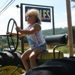 Little Girl on Tractor 8.2011