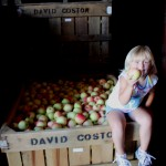 Little Girl sitting on Bin 8.2011