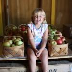 Little Girl with Honeycrisp 8.2011