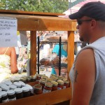 man selling canned goods 9.2011