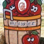 baby in apple peek a boo