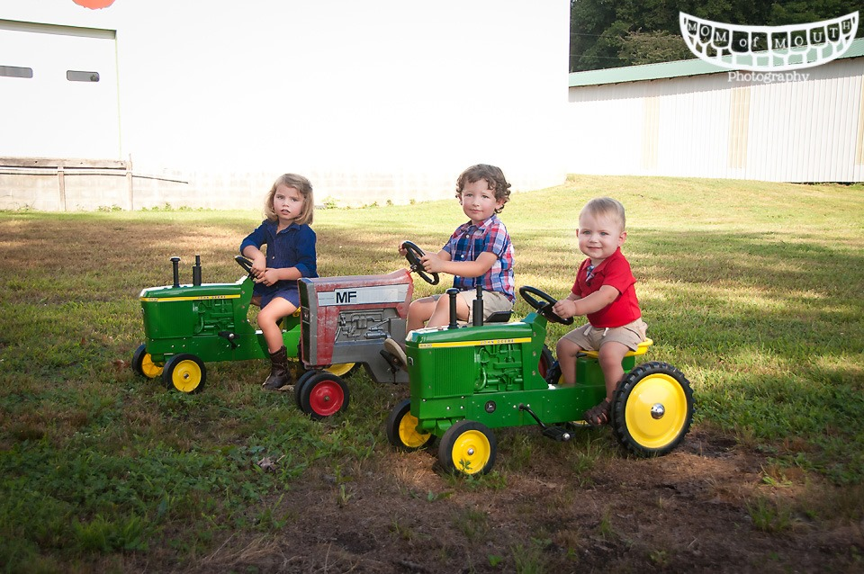 Grandkids on tractors